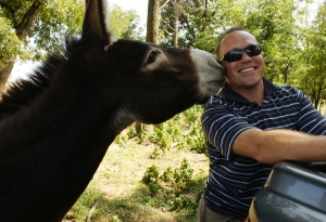 Republican with a Donkey....NO that's not me!